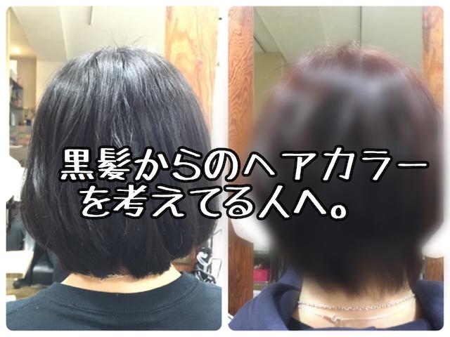 ヘアカラー 黒髪